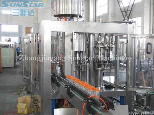 Automatic Juice Drink Rinser Filler Capper Unit(RCGF16-12-6)