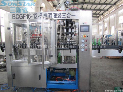 Beer Filling Machine Monoblock(BCGF16-12-6)
