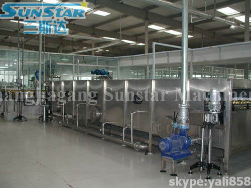 Continuously Spray Sterilization/Cooling Tunnel
