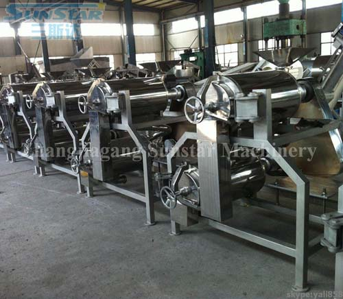 Double Channel Pulping machine